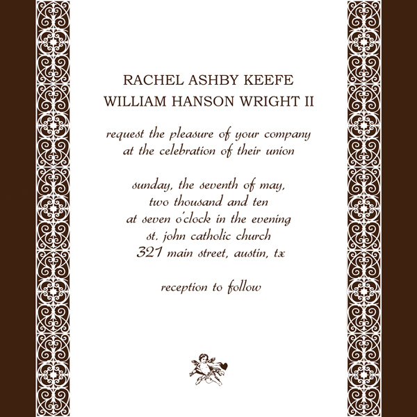 Personal Wedding Invitation Cards Design
