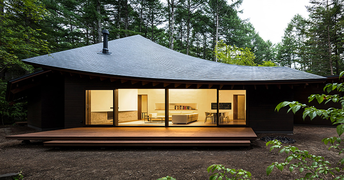 This Weekend Villa In Japan Resembles A Pile Of Leaves, By