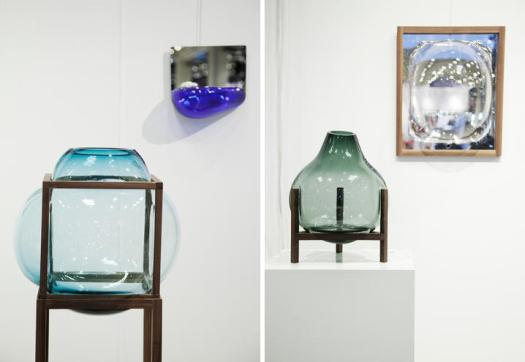 Objetos de vidro com formas orgânicas do estúdio Thier&vanDaalen