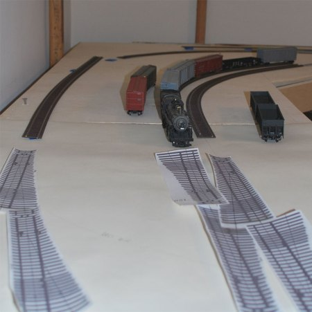An elevated view of the Newburgh & South Shore side of the layout.