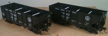 A pair of B&O USRA hoppers