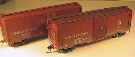 PRR box cars X37 X43