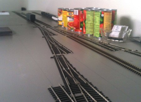 Two tracks installed, from right.
