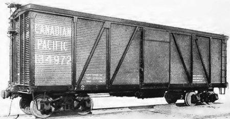Canadian Pacific Fowler patent design box car