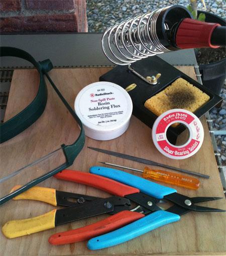 Main soldering tools
