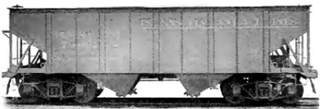 Standard Steel Car Company steel hopper of 1904