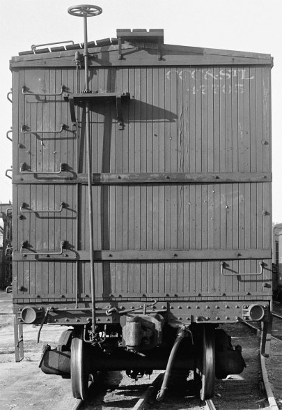 Prototype end on a NYC Lines 36-foot box car.