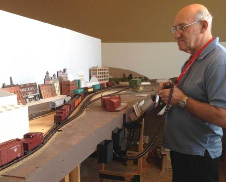 John keeps busy in Avalon with his westbound local.
