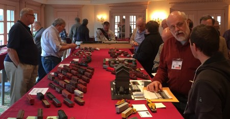 The model display room was busy through the event with several hundred works to view and discuss..