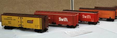 Larry Kline displayed several O scale reefers at the 2011 RPM-East meet.