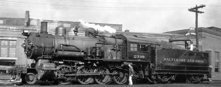 Bud Laws, B&O 2339 at Benwood Yard, Benwood, W. Va., May 1934. Image retrieved form the B&O Steam Locomotive Roster website (LINK: http://www.northeast.railfan.net/bo_steam2.html ) .