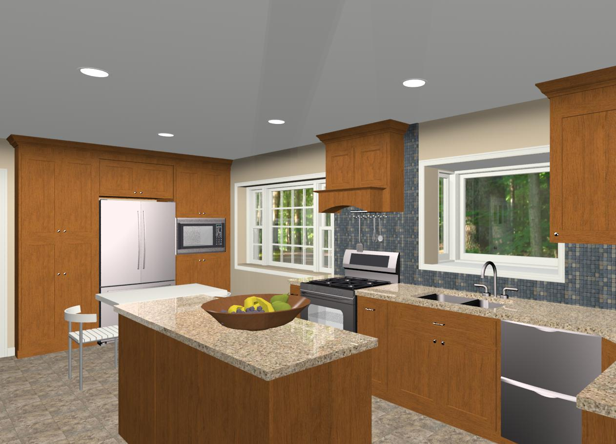 L Shaped Kitchen Plans Island