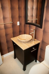 furniture style bathroom vanity - design build pros