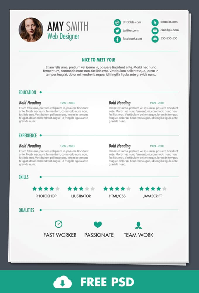 free psd print ready resume template template resume free newsound co