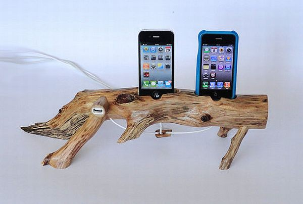 iPhone / iPod wooden DUAL docking station