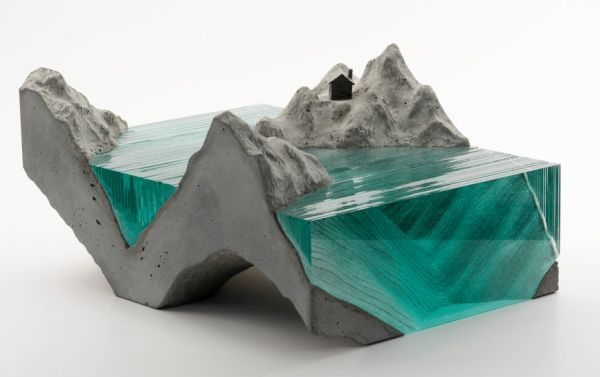 Ben Young's Broken Liquid Glass Sculptures