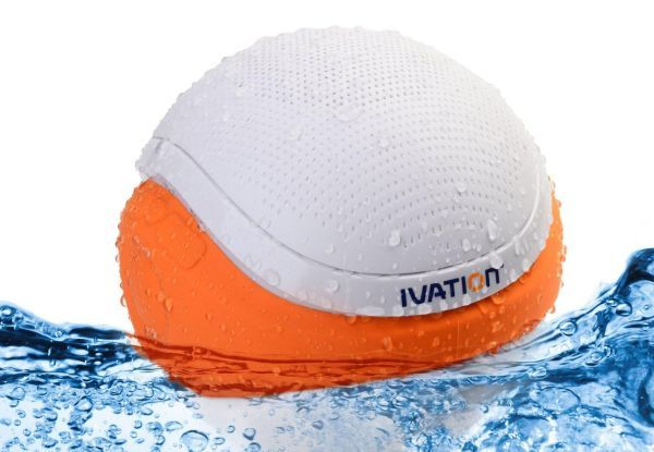 Ivation Waterproof Bluetooth Floating Pool Speaker