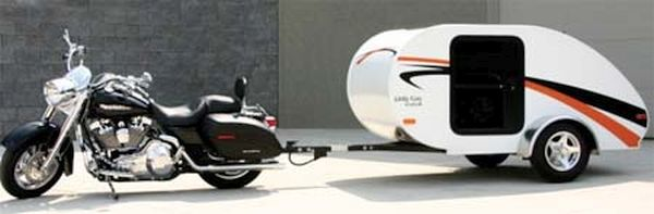 Motorcycle travel trailers