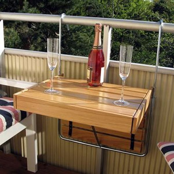 A folding table for your balcony