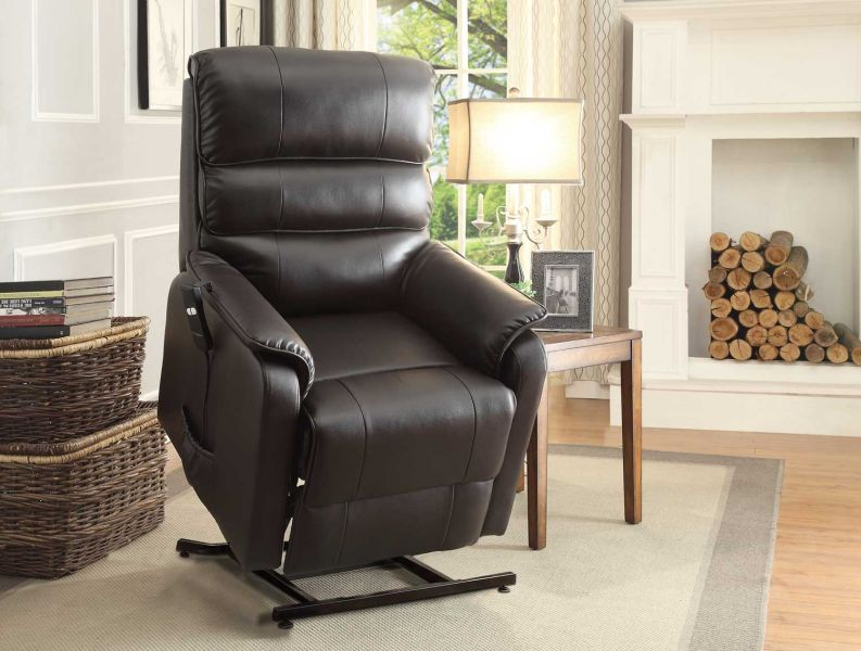 this chairu0027s lift system is made of sturdy steel and it has a tufted design at the back and a padded arm it can be shifted to many positions