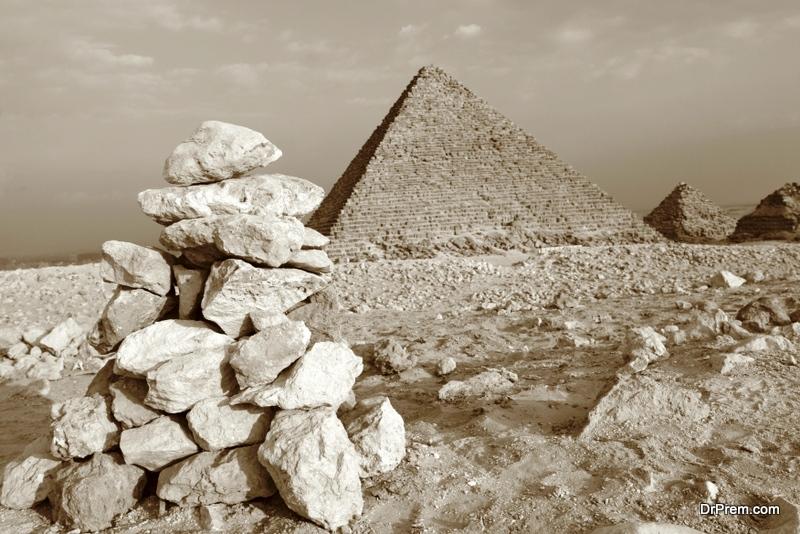 Humans built the pyramids