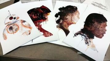 Digital watercolor paintings