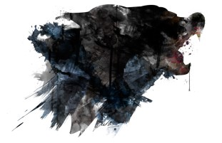 """""""Gmork"""" Abstract watercolor-style painting created in Photoshop"""