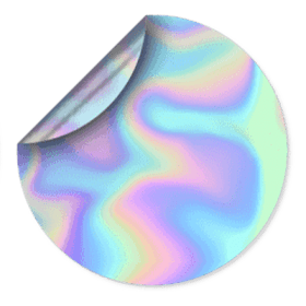 Custom Holographic Hat Cap Stickers Design By Creative