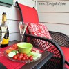 $100Room Challenge|#100roomchallenge|Deck refresh|Recover deck furniture|sling set|red outdoor furniture