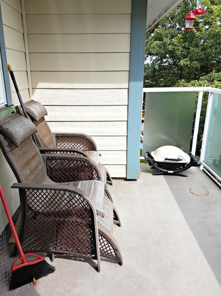 Deck before|$100 room challenge|sling set|conversation set