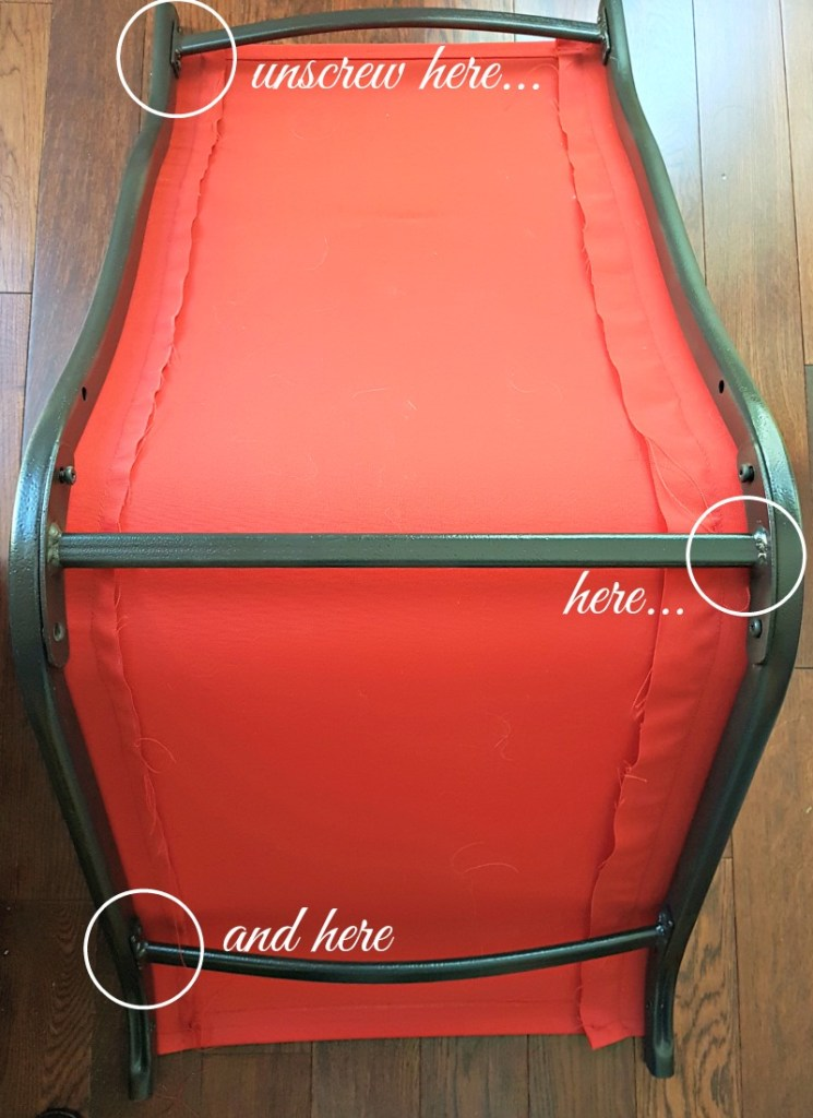 $100 Room Challenge|Deck Refresh|#100roomchallenge|recover deck chairs|recover sling set|red deck futniture