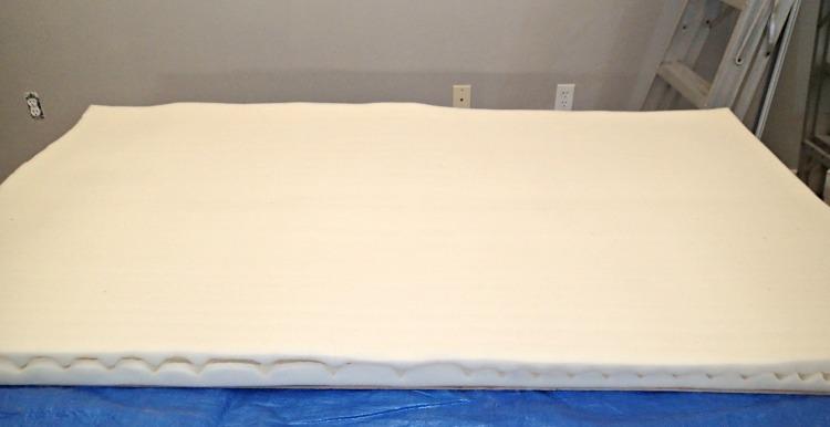 convoluted foam, diamond tufted headboard, master bedroom
