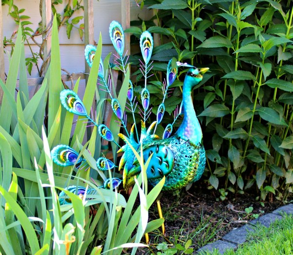peacock metal garden sculpture add some colour to your garden