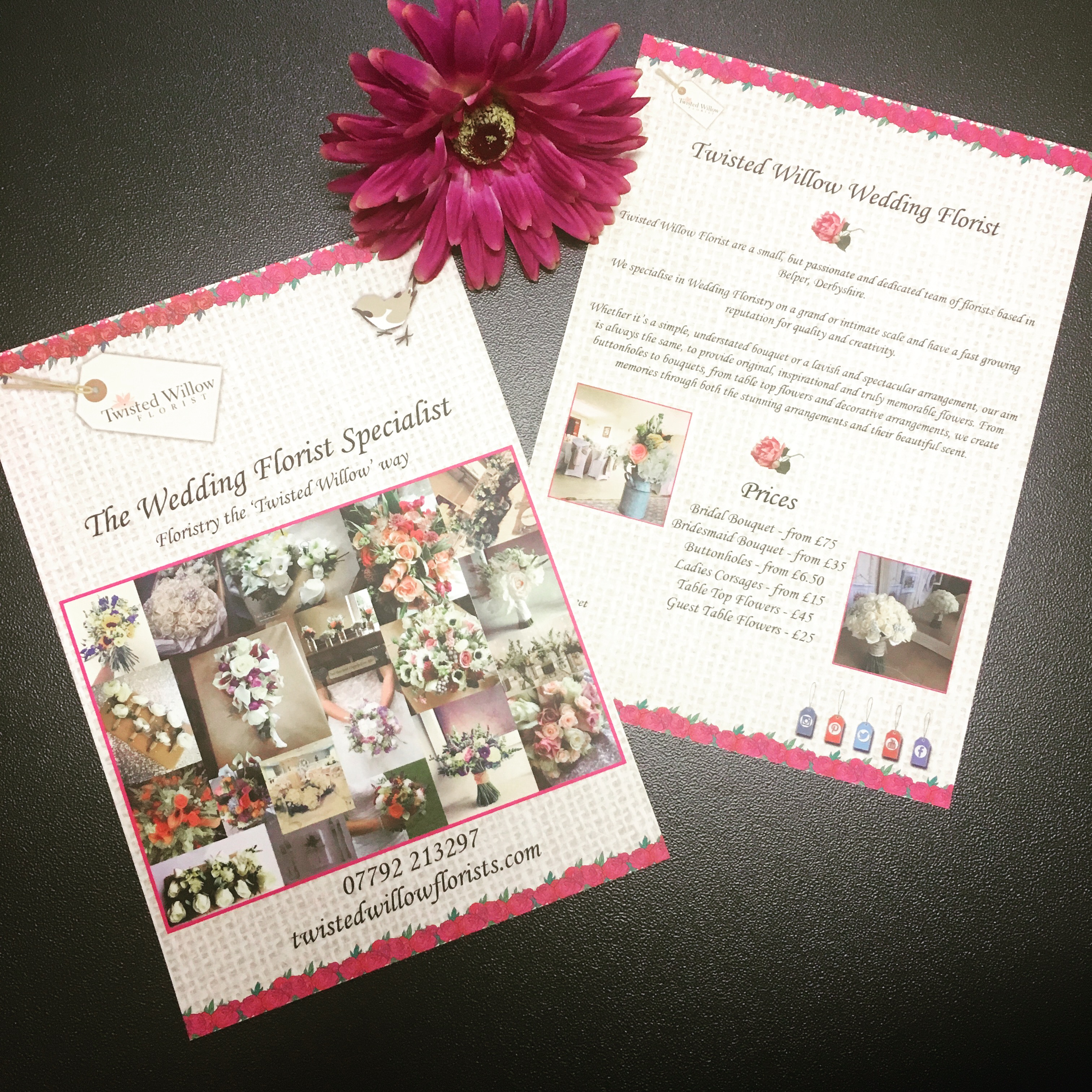 A5 Leaflet - Twisted Willow Florist
