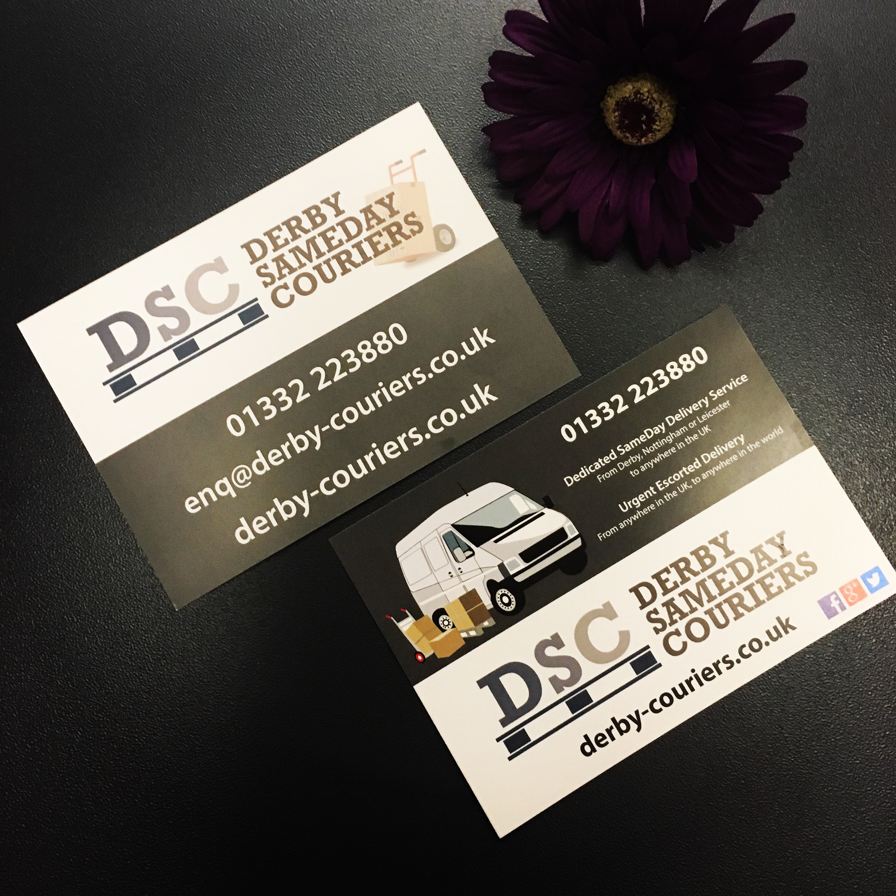 A6 Leaflets - Derby SameDay Couriers