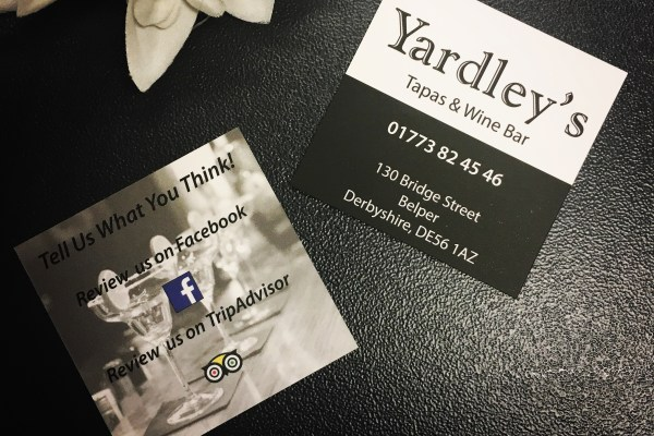 Feedback Cards – Yardley's