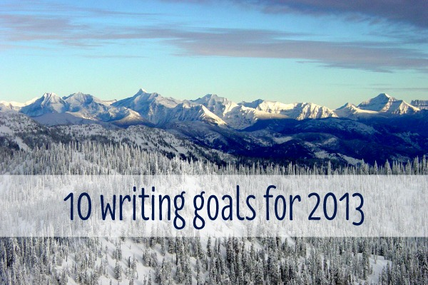 10 writing goals for 2013