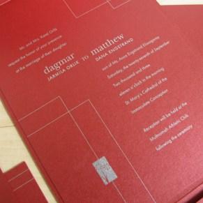 Engstrand/Orlik Wedding Invitation Design