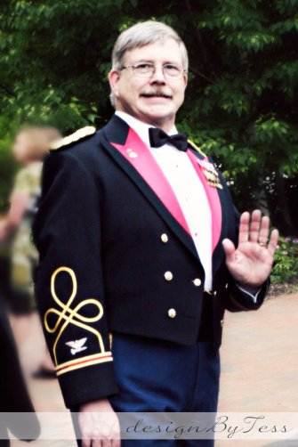 Father of the Bride in Dress Blues