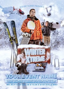Winter Extreme Flyer. Photoshop (PSD) Flyer Template.