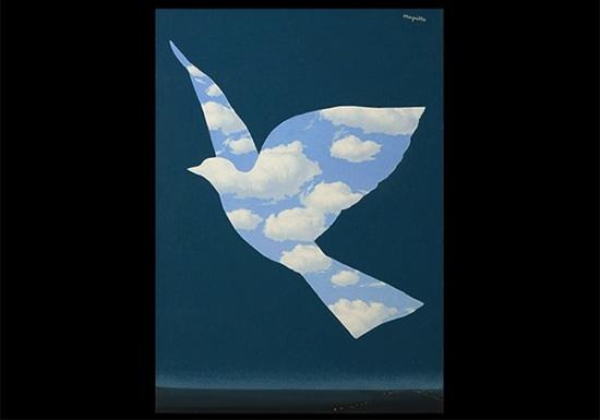 航空会社のデザイン 引用元:マグリット展 | René Magritte