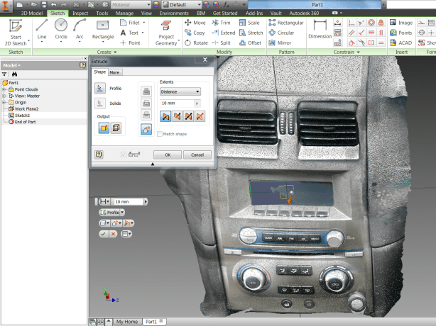 Recap Project attached in Inventor Part File for 3D Modelilng