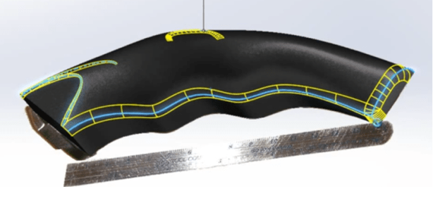 Dassault Systemes Solidworks 3D Model with G1 Fillets Highlighted