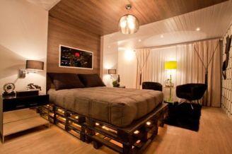 base para cama box feita de pallet