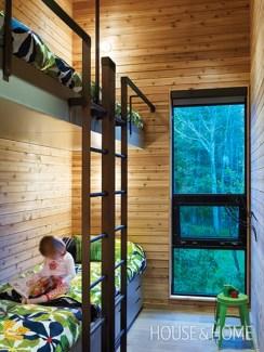 Modern-inspired cottage kids room