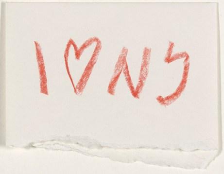 Milton Glaser esboços, I LOVE NY.