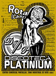 Pegatina Discoteca Platinium, Photoshop