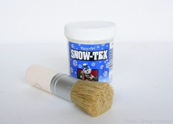 snowtex applied to vases