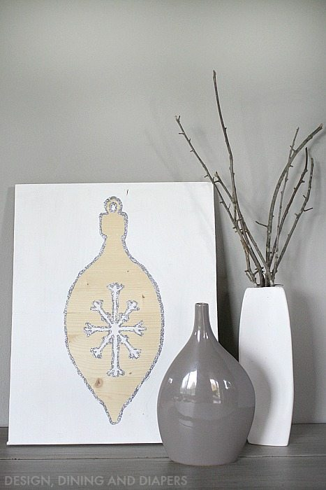 DIY Modern Holiday Art via @tarynatddd