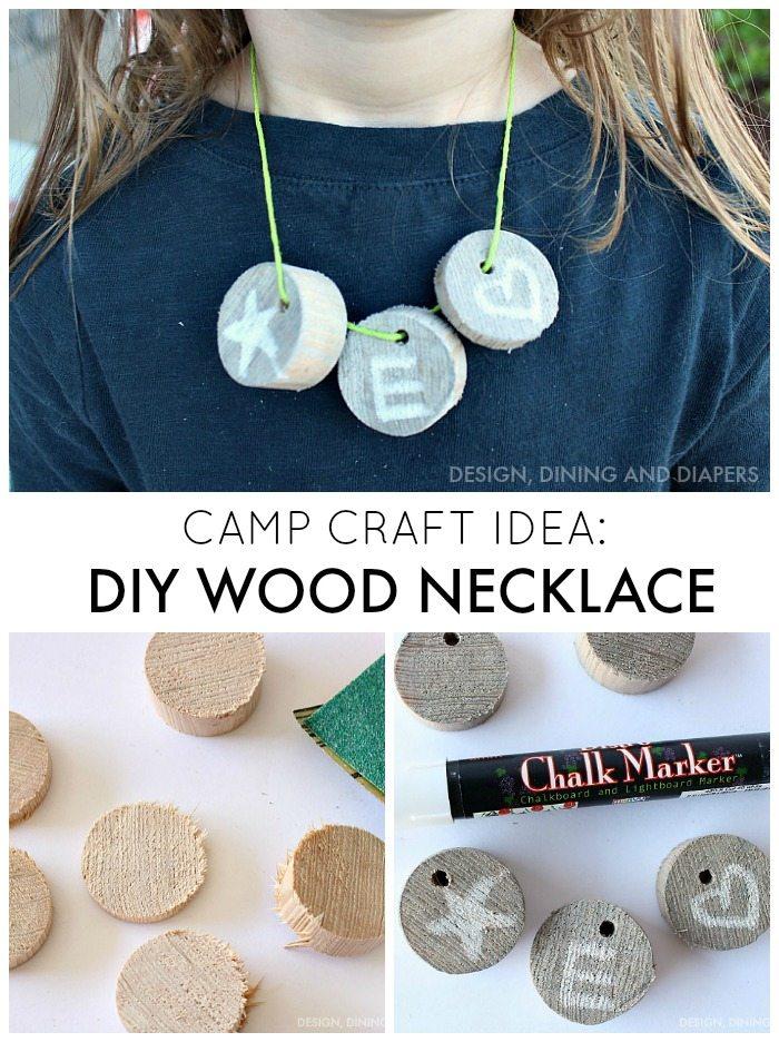 Camp Craft Idea - DIY Wood Necklace